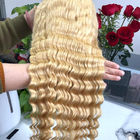 Deep Wave 100% Peruvian Ombre Human Hair Extensions 613# Blonde Color For Lady