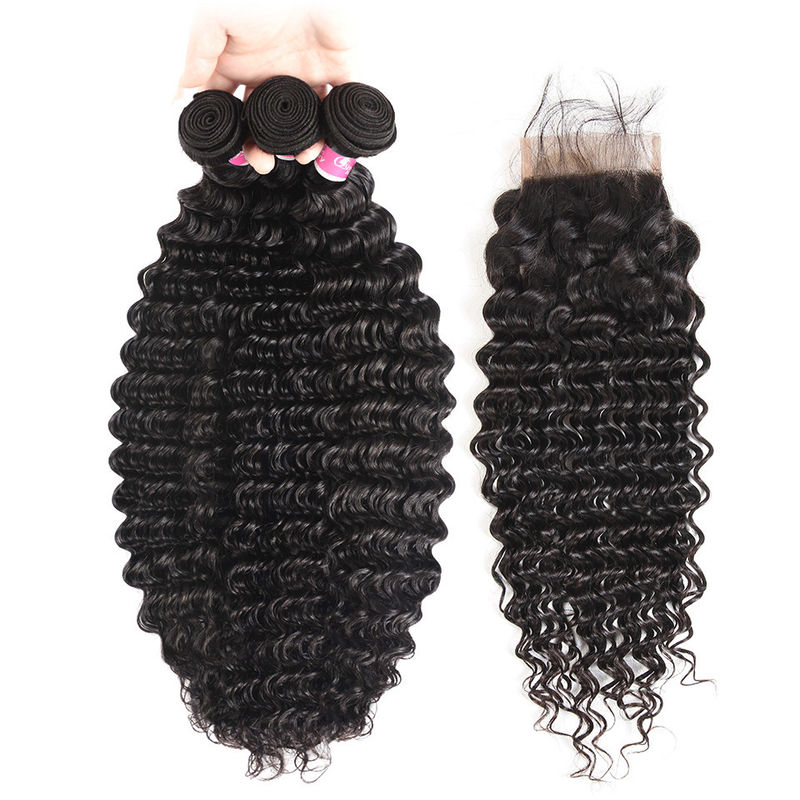 No Tangle 100% Virgin Human Hair Extensions And 4 X 4 Closures