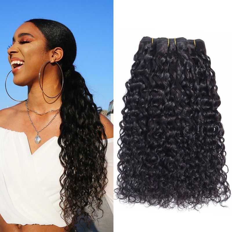 Dyeable Bleachable Real 100% Indian Human Hair Extensions For Black Women